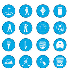 Golf icon blue vector