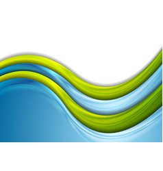 green and blue blurred waves abstract background vector image