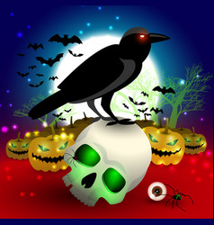 halloween cartoon composition vector image