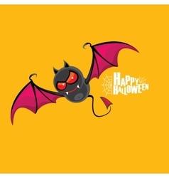 Happy halloween background with bat vector