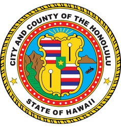 Hawaii City Seal vector image