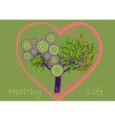 healthy life vector image