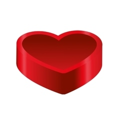 Heart box love romantic passion icon vector