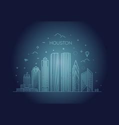 houston city skyline in vector image