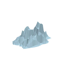 Iceberg isolated on white background 3d vector
