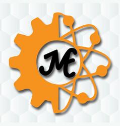 Jme logo design with image vector