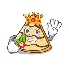King crepe mascot cartoon style vector