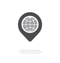 location icon pin sign 41 vector image