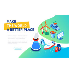 Make world a better place - modern colorful vector