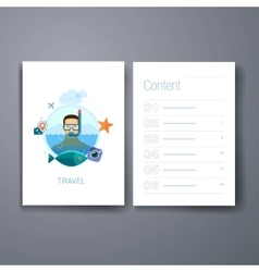 Modern sea holidays snorkeling flat icons cards vector image
