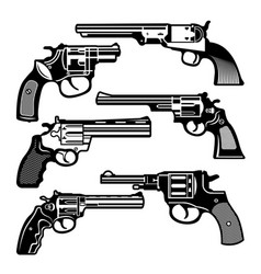 Monochrome of retro weapons vector