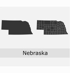 nebraska map counties outline vector image