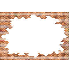 old brick wall background red bricks texture vector image