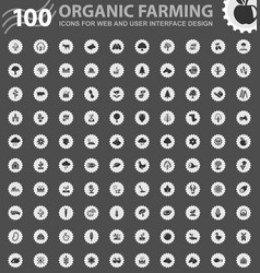 organic farming icons set vector image