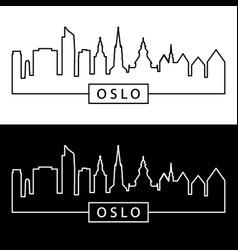 Oslo skyline linear style editable file vector