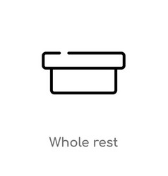 Outline whole rest icon isolated black simple vector