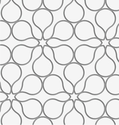Perforated flower contour vector image