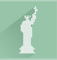 Pixel new york symbol vector