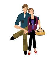 Portrait of couple vector image