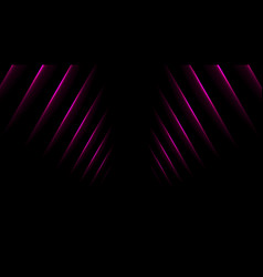 purple glowing neon lines abstract background vector image