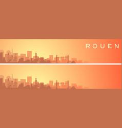 Rouen beautiful skyline scenery banner vector