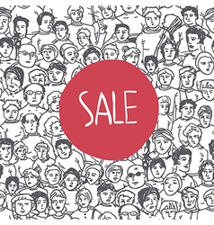 Sales crowd concept vector
