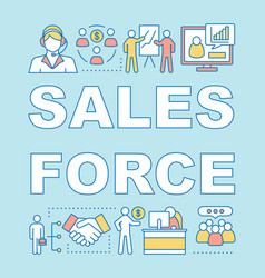 Sales force word concepts banner vector