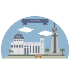 San Salvador vector image