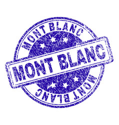 Scratched textured mont blanc stamp seal vector