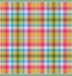 seamless rainbow checkered pattern vector image