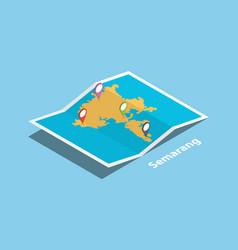 semarang modern city in indonesia explore maps vector image