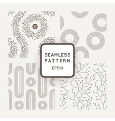 Set of seamless patterns with dotted and vector image