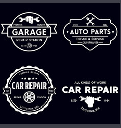 set of vintage monochrome car repair service vector image
