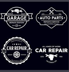 set vintage monochrome car repair service vector image