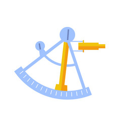 Sextant tool isolated icon vector