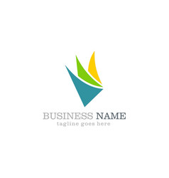 shape abstract colored business logo design vector image