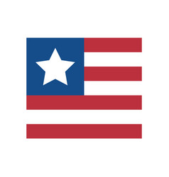 Simple usa flag square vector