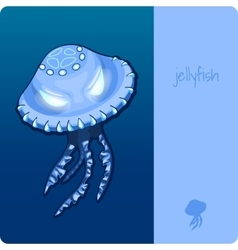 Single jellyfish with space for text vector image