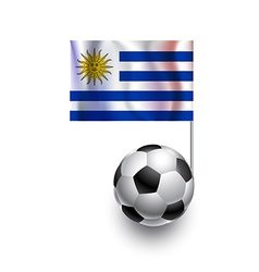 Soccer Balls or Footballs with flag of Uruguay vector