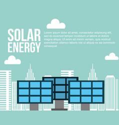 Solar energy city sustainable alternative vector