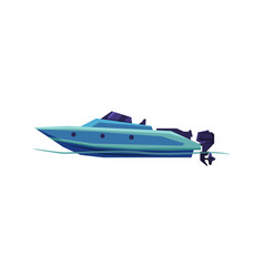 Speedboat sailboat power boat modern nautical vector