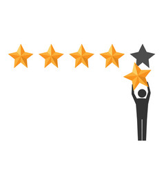 Star rating positive review vector