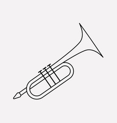 trumpet icon line element of vector image