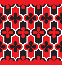 Venice carnival geometric seamless pattern vector