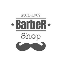 vintage barbershop badge or logo vector image