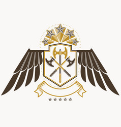 Vintage decorative heraldic emblem composed vector