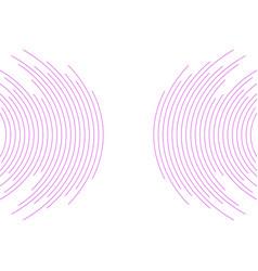 violet circular lines abstract futuristic tech vector image