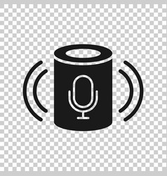 Voice assistant icon in transparent style smart vector