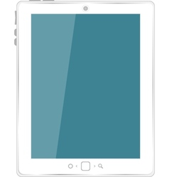 White tablet computer vector