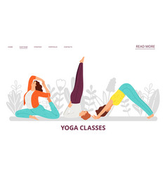 yoga classes landing page vector image